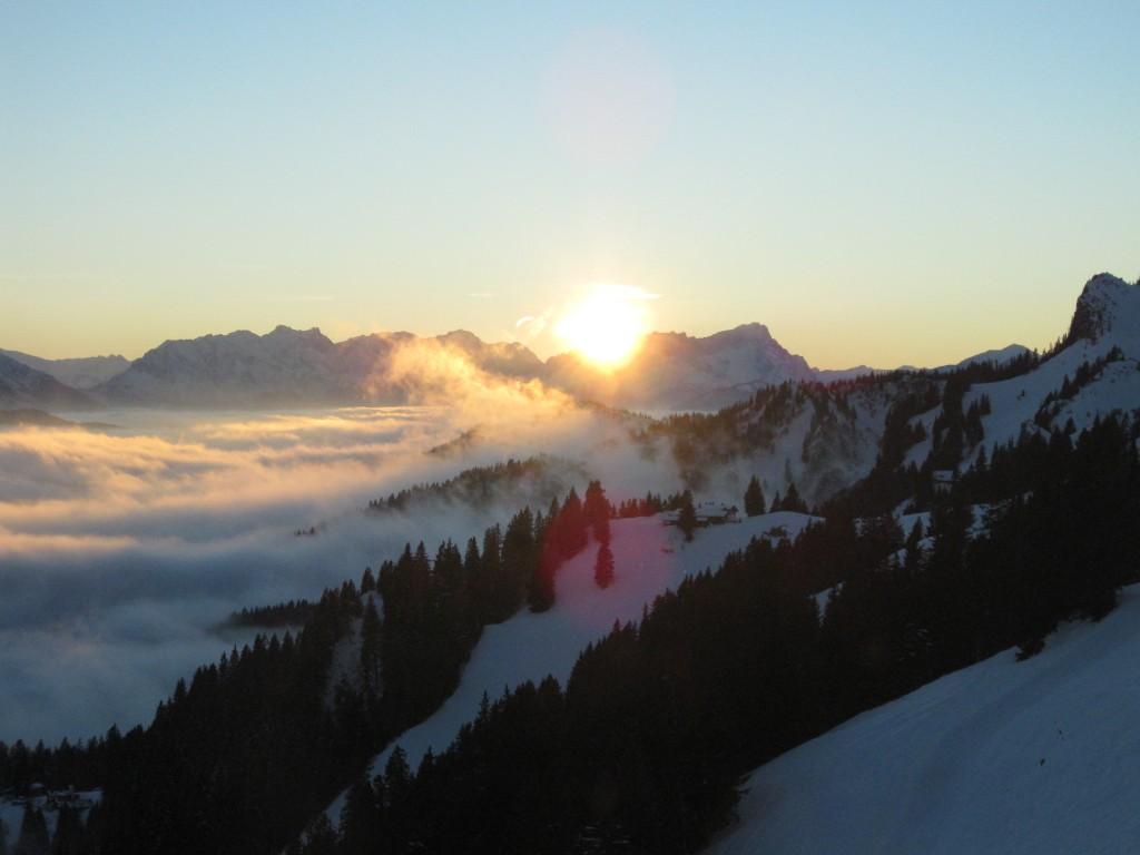 Brauneck Sonnenuntergang